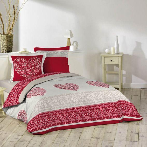 housse de couette et deux taies 240 cm c ur d 39 hiver housse de couette eminza. Black Bedroom Furniture Sets. Home Design Ideas
