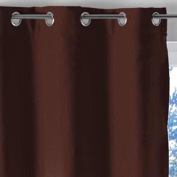 rideau occultant 140 x h180 cm lumia chocolat rideau occultant eminza. Black Bedroom Furniture Sets. Home Design Ideas