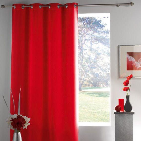 rideau occultant 140 x h260 cm lumia rouge rideau occultant eminza. Black Bedroom Furniture Sets. Home Design Ideas