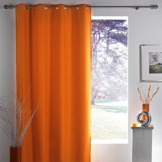 rideau occultant 140 x h260 cm lumia orange rideau occultant eminza