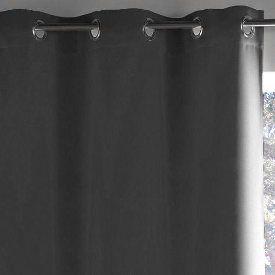 rideau occultant 140 x h260 cm lumia gris fonc rideau. Black Bedroom Furniture Sets. Home Design Ideas