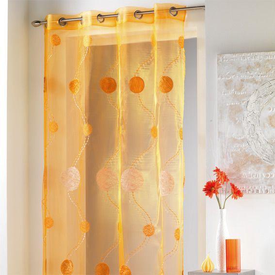 voilage oeillets diad me orange voilage eminza. Black Bedroom Furniture Sets. Home Design Ideas