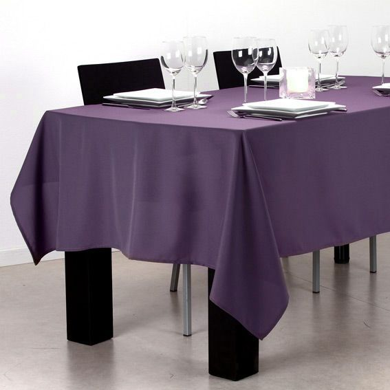 nappe rectangulaire l240 cm uni violet nappe de table. Black Bedroom Furniture Sets. Home Design Ideas