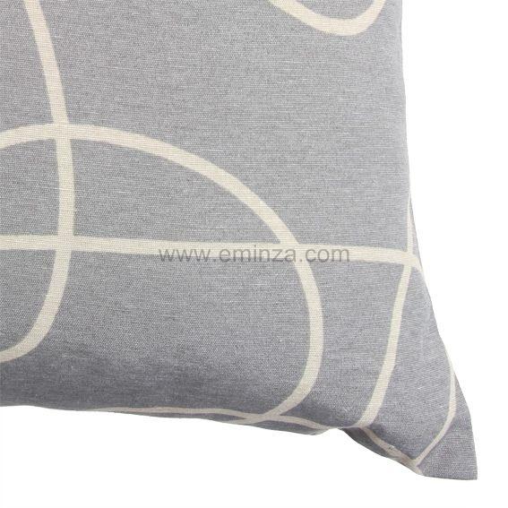 coussin graphique gris coussin et housse de coussin eminza. Black Bedroom Furniture Sets. Home Design Ideas