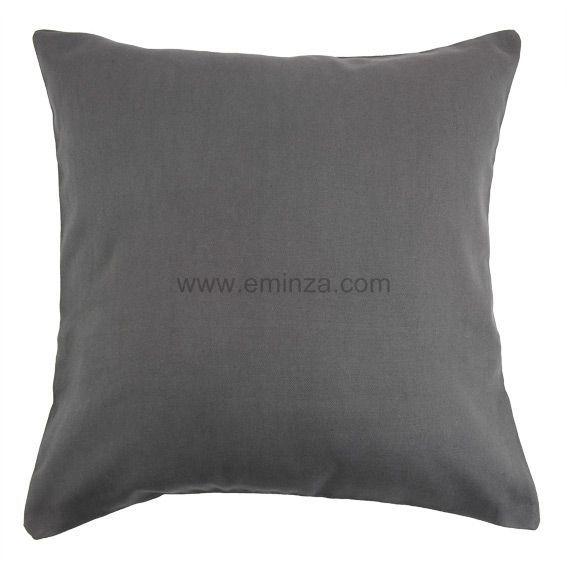lot de 2 housses de coussin 40 cm contemporaine anthracite coussin et housse de coussin eminza. Black Bedroom Furniture Sets. Home Design Ideas