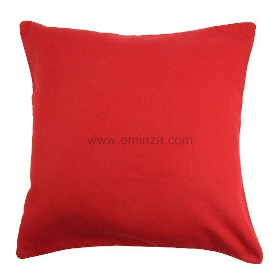 Lot de 2 housses de coussin 40 cm contemporaine rouge - Housse de coussin 60x60 ...