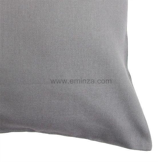 lot de 2 housses de coussin 60 cm contemporaine gris. Black Bedroom Furniture Sets. Home Design Ideas