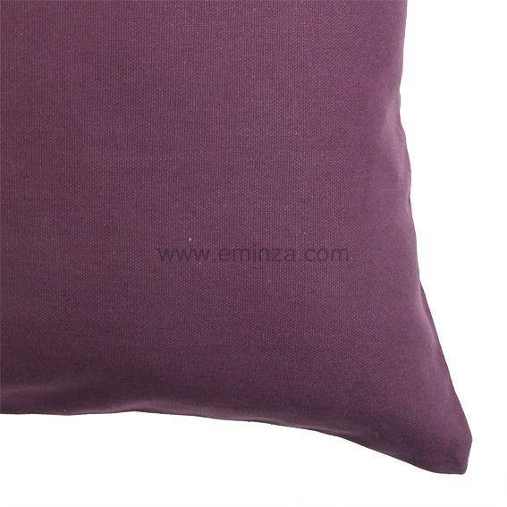 lot de 2 housses de coussin 60 cm contemporaine prune coussin et housse de coussin eminza. Black Bedroom Furniture Sets. Home Design Ideas