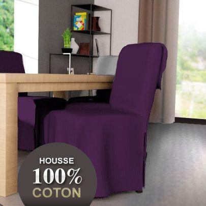 Housse de chaise contemporaine prune housse de chaise for Housse de chaise noir