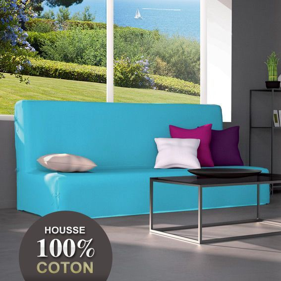 housse de clic clac gamme contemporaine bleu turquoise housse de clic clac bz eminza. Black Bedroom Furniture Sets. Home Design Ideas