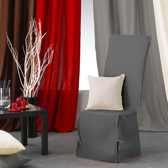 housse de chaise gamme panama gris housse de chaise eminza. Black Bedroom Furniture Sets. Home Design Ideas