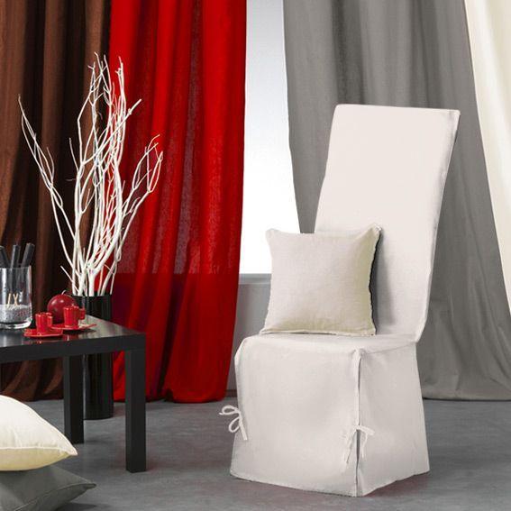 housse de chaise gamme panama ecru housse de chaise eminza. Black Bedroom Furniture Sets. Home Design Ideas