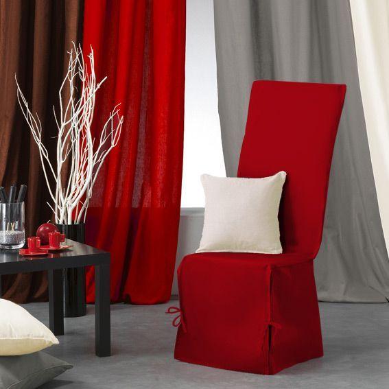 housse de chaise gamme panama rouge griotte housse de canap chaise eminza. Black Bedroom Furniture Sets. Home Design Ideas
