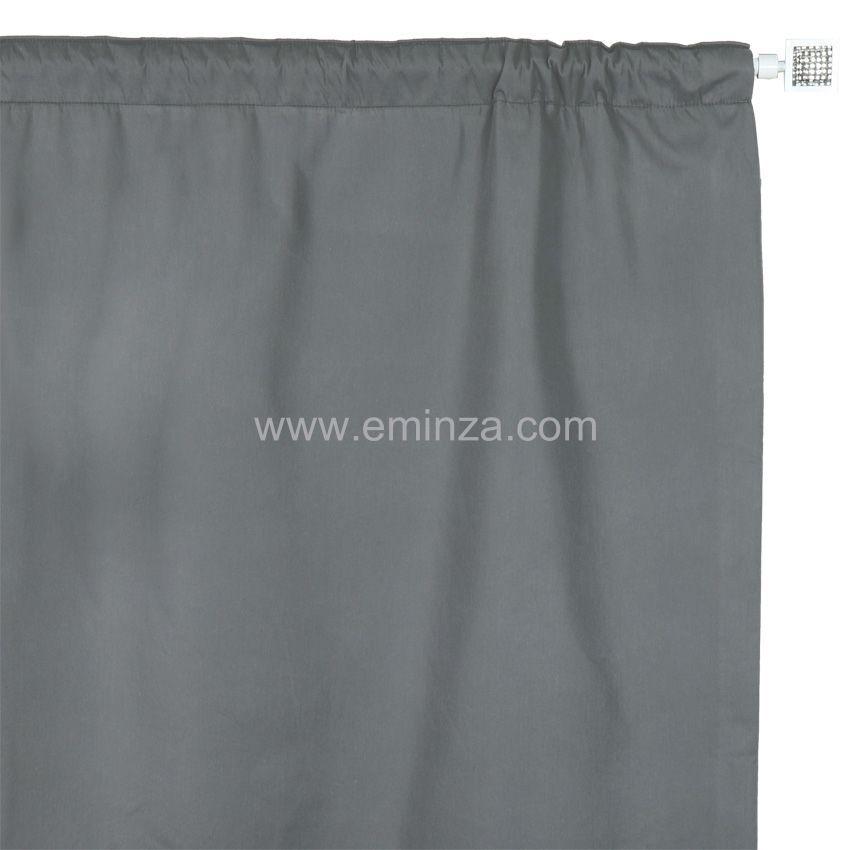 rideau de porte thermique 100 x h220 cm igloo gris rideau isolant eminza. Black Bedroom Furniture Sets. Home Design Ideas