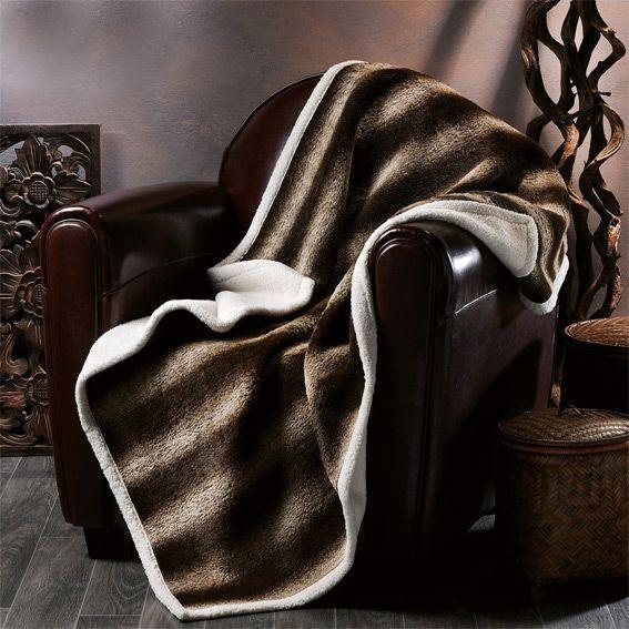 plaid imitation fourrure husky plaid fausse fourrure eminza. Black Bedroom Furniture Sets. Home Design Ideas