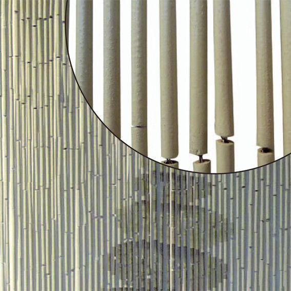 rideau de porte 90 x h200 cm bambou galets rideau de porte eminza