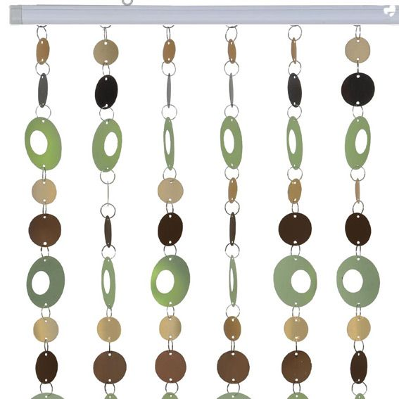 rideau de porte pop marron et vert rideau de porte eminza. Black Bedroom Furniture Sets. Home Design Ideas