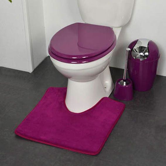 tapis contour wc design violet tapis contour wc eminza. Black Bedroom Furniture Sets. Home Design Ideas