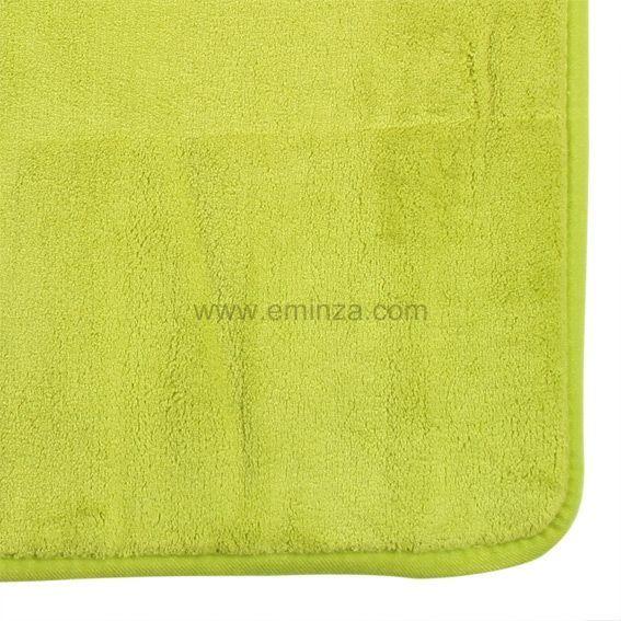 Tapis de bain microfibre simply vert tapis salle de bain for Tapis salle de bain microfibre
