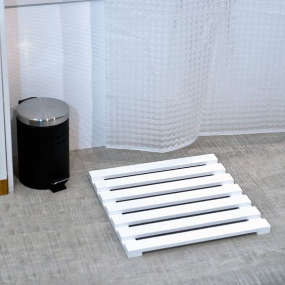 caillebotis anti d rapant blanc tapis de bain eminza. Black Bedroom Furniture Sets. Home Design Ideas