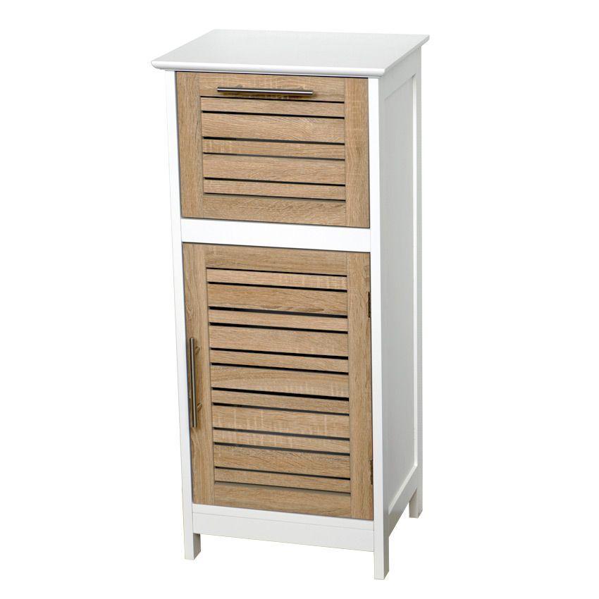 Meuble bas de salle de bain stockholm bois meuble bas for Meuble bas de salle de bain