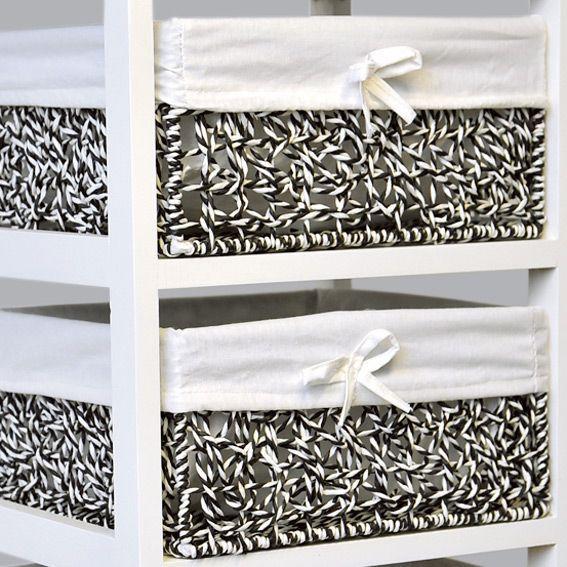 meuble panier palm beach blanc meuble d co eminza. Black Bedroom Furniture Sets. Home Design Ideas