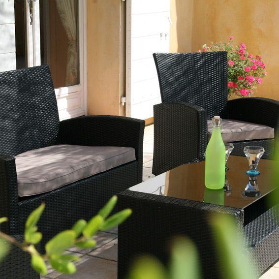 lot de 3 coussins pour salon de jardin ibiza beige coussin de salon eminza. Black Bedroom Furniture Sets. Home Design Ideas