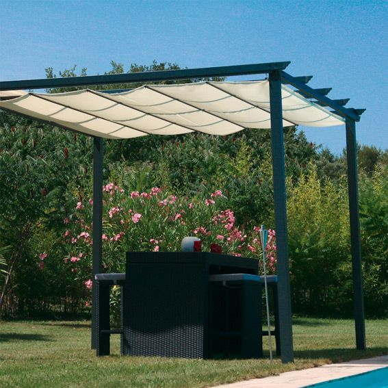 tonnelle buenos aires ecru tonnelle et pergola eminza. Black Bedroom Furniture Sets. Home Design Ideas