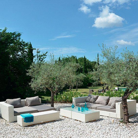 salon de jardin agadir blanc gris 7 places salon de jardin d tente eminza. Black Bedroom Furniture Sets. Home Design Ideas