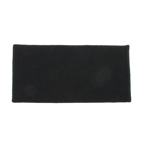 Tapis anti d rapant 120 cm uni noir tapis multi usage for Tapis de cuisine noir uni