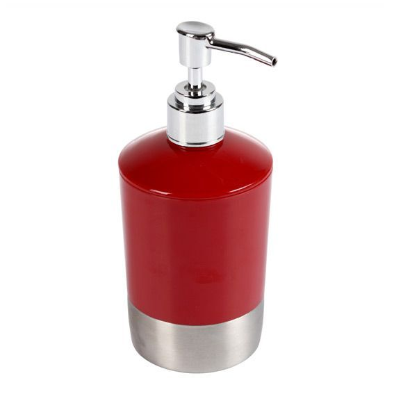 Distributeur de savon happy one rouge distributeur de for Distributeur salle de bain