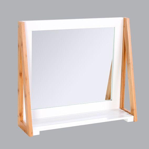 miroir contemporain blanc miroir eminza. Black Bedroom Furniture Sets. Home Design Ideas