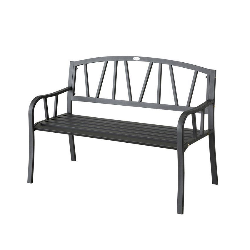 banc de jardin alvernia noir banc de jardin eminza. Black Bedroom Furniture Sets. Home Design Ideas