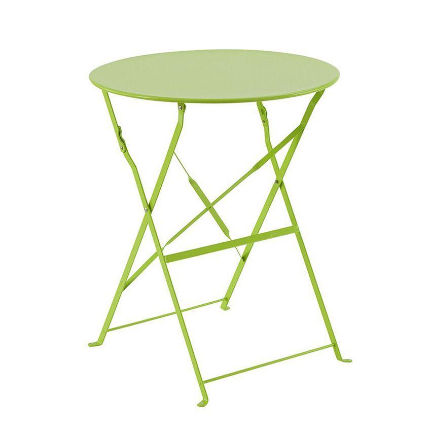 Table de jardin ronde pliante m tal camargue d60 cm granny table de jardin eminza - Table jardin metal ronde brest ...