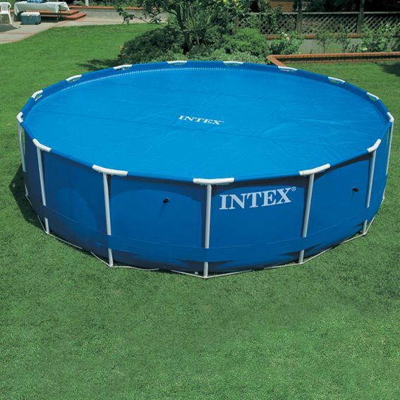 B che bulles m pour piscine ronde intex for Bache piscine intex 4 57