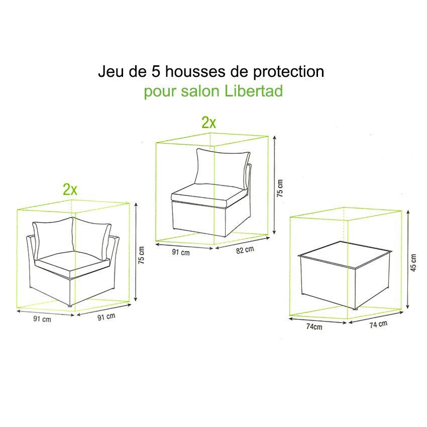 jeu de housses protection pour salon libertad housse de. Black Bedroom Furniture Sets. Home Design Ideas