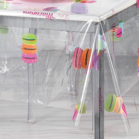 nappe cir e rectangulaire l240 cm macarons cristal. Black Bedroom Furniture Sets. Home Design Ideas