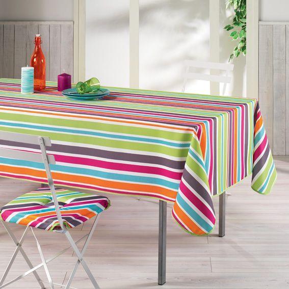 Nappe rectangulaire l240 cm sierra multicolore nappe for Nappe de table rectangulaire
