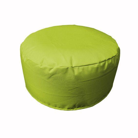 Pouf de jardin gonflable vert anis bain de soleil et - Bain de soleil gonflable ...