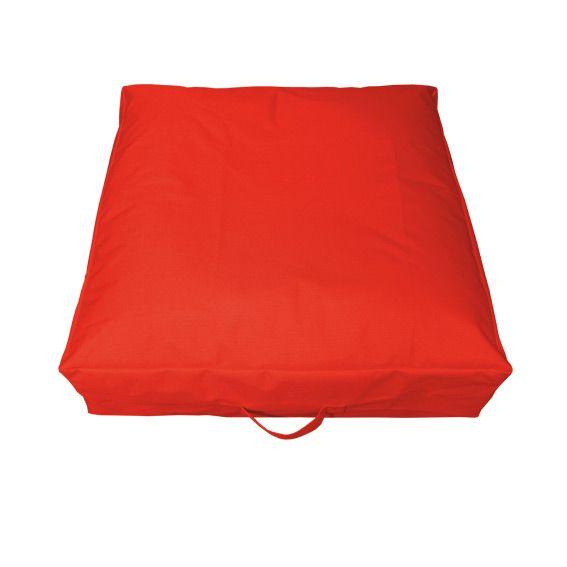 Coussin de sol gonflable orange mobilier gonflable eminza - Bain de soleil gonflable ...