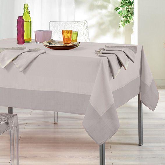 Nappe Rectangulaire L240 Cm Mistral Jacquard Cru Nappe De Table Eminza