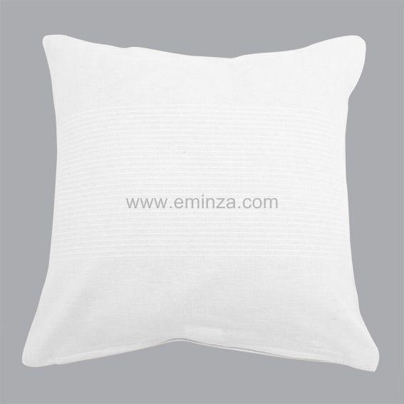 Housse de coussin lana blanc housse de coussin eminza - Housse de coussin blanc ...