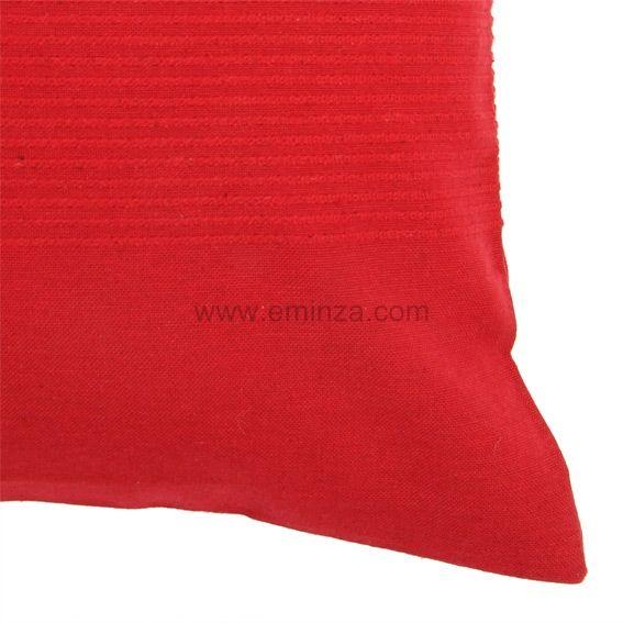 Housse de coussin lana rouge coussin et housse de for Housse coussin rouge
