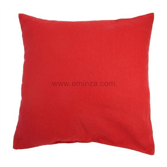 Coussin contemporaine rouge coussin et housse de coussin - Housse de coussin rouge ...