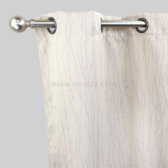 rideau occultant 140 x h250 cm glitter beige rideau occultant eminza. Black Bedroom Furniture Sets. Home Design Ideas