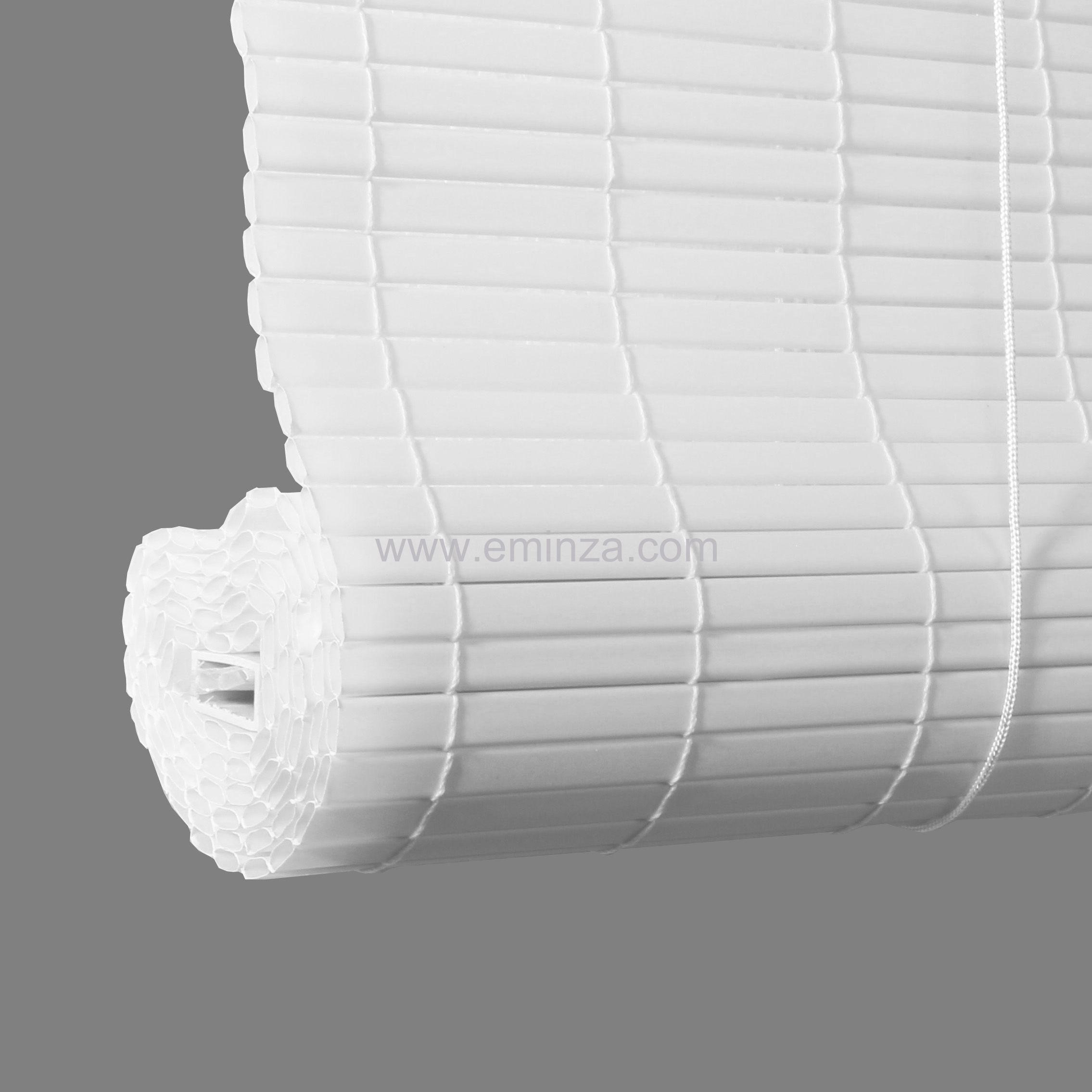 store enrouleur lattes 60 x h180 cm pvc blanc store int rieur eminza. Black Bedroom Furniture Sets. Home Design Ideas