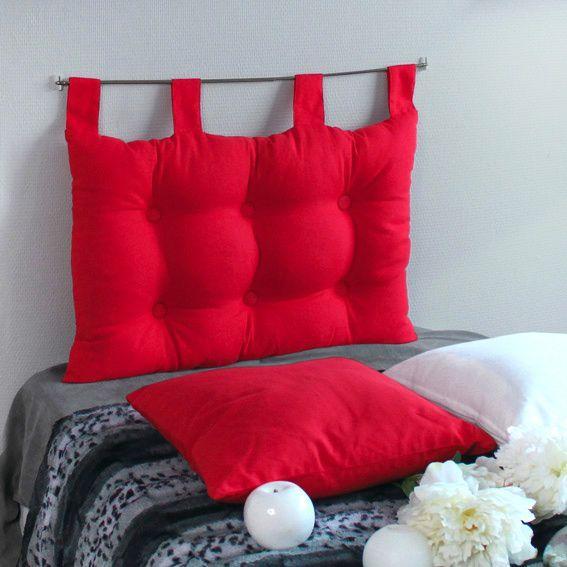 t te de lit 70 cm etna rouge t te de lit eminza. Black Bedroom Furniture Sets. Home Design Ideas