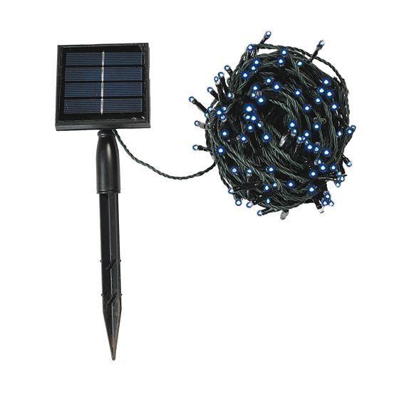 guirlande lumineuse solaire 10 m bleu 100 led guirlande. Black Bedroom Furniture Sets. Home Design Ideas