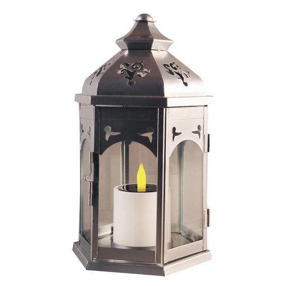 Lanterne solaire kiosque argent d coration lumineuse for Lanterne led jardin