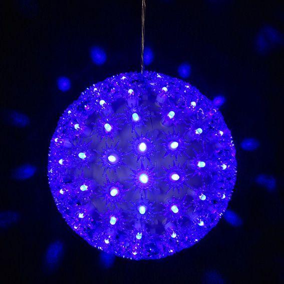 boule lumineuse diodon bleu 100 led silhouette lumineuse eminza. Black Bedroom Furniture Sets. Home Design Ideas